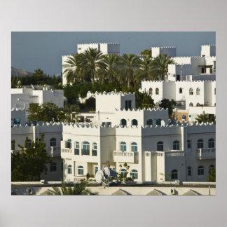 オマーン、マスカット、Qurm。 の建物Qurm区域/ ポスター