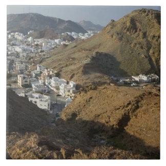 オマーン、マスカット、Ruwi/Al Hamriyah。 Ruwiの眺め/ タイル