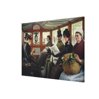 オムニバス、1880年 キャンバスプリント