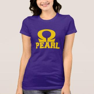 オメガの真珠の小さいティー Tシャツ