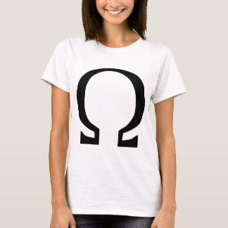 オメガ黒いアイコン Tシャツ