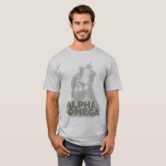 オメガHaile Selassieの皇后のMenenのアルファTシャツ Tシャツ