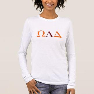 オメガLambdaのデルタの女性の長袖のTシャツ 長袖Tシャツ