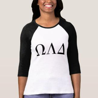 オメガLambdaのデルタの女性の3/4のRaglanのティー Tシャツ