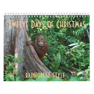 オランウータンによるクリスマスの12日 カレンダー