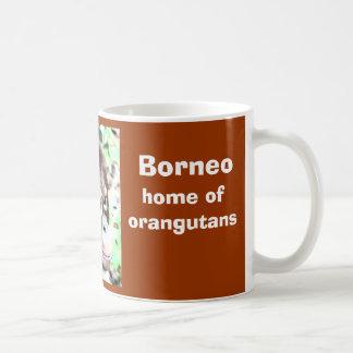 オランウータンのボロネオの島 コーヒーマグカップ