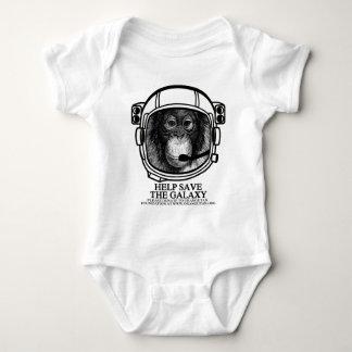 オランウータンの宇宙飛行士-銀河系を救って下さい ベビーボディスーツ