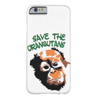 オランウータンの赤いサルの野性生物 BARELY THERE iPhone 6 ケース
