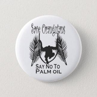 オランウータンを拒否しますパーム油ボタンを救って下さい 5.7CM 丸型バッジ