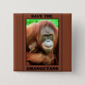 オランウータンを救って下さい 缶バッジ