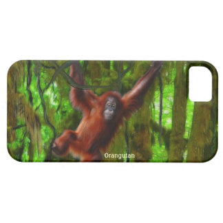 オランウータン及びジャングルの野性生物のiPhone 5の場合 iPhone SE/5/5s ケース