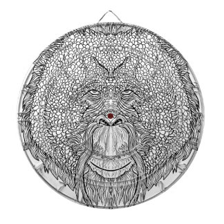 オランウータン猿のティー-入れ墨の芸術のスタイルの着色 ダーツボード
