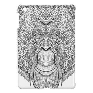 オランウータン猿のティー-入れ墨の芸術のスタイルの着色 iPad MINIケース