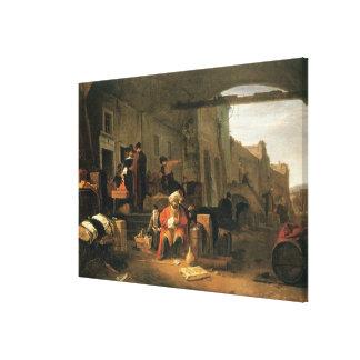 オランダおよび中東取引からの商人 キャンバスプリント
