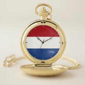 オランダのが付いている愛国心が強い壊中時計 ポケットウォッチ