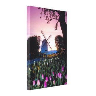 オランダのキャンバスのプリントの日没のオランダの風車 キャンバスプリント