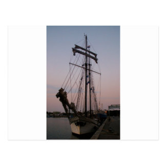 オランダのスクーナー船 ポストカード