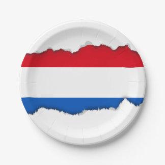 オランダのネザーランド旗 ペーパープレート