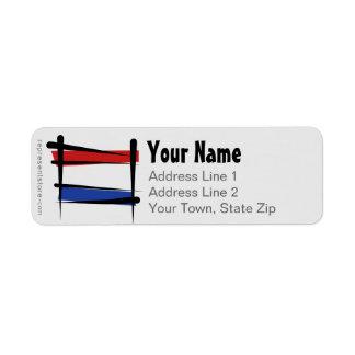 オランダのブラシの旗 ラベル