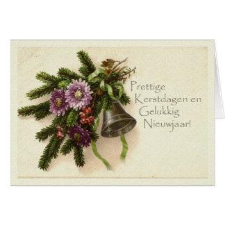 オランダのヴィンテージのクリスマスカード カード