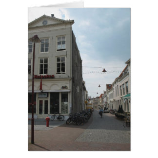 オランダの写真カードの典型的なオランダの通り グリーティングカード