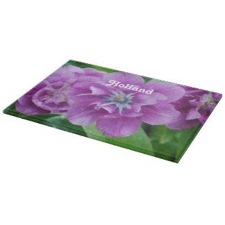 オランダの咲くチューリップ カッティングボード