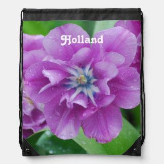 オランダの咲くチューリップ ナップサック
