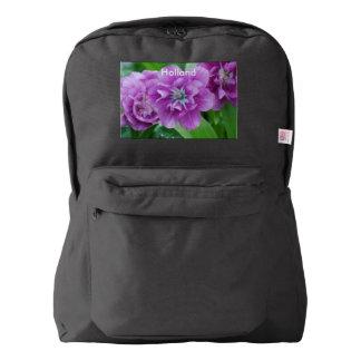 オランダの咲くチューリップ AMERICAN APPAREL™バックパック