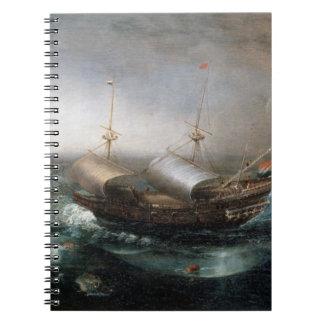 オランダの商人伴われる容器およびSmalschip ノートブック