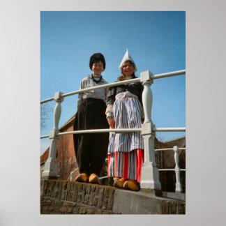 オランダの国民の衣裳の子供 ポスター