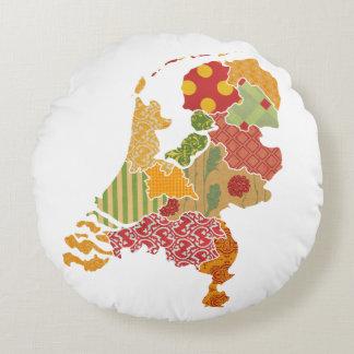 オランダの地域の地図のボヘミアのパッチワークのスタイル ラウンドクッション