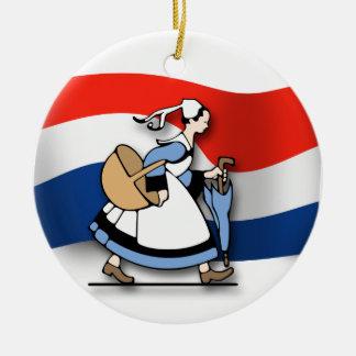 オランダの女中 セラミックオーナメント
