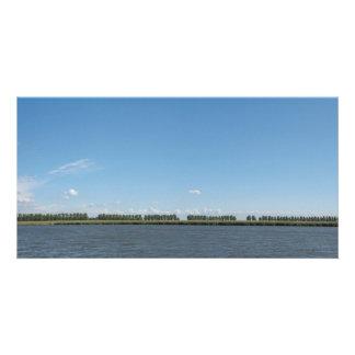 オランダの干拓の景色のパノラマの写真 カード