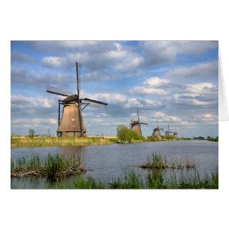 オランダの挨拶状の風車 グリーティングカード