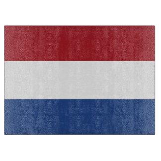 オランダの旗を持つガラスまな板 カッティングボード