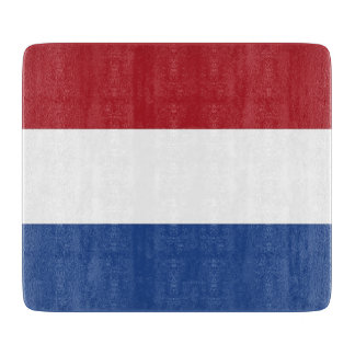 オランダの旗を持つ小さいガラスまな板 カッティングボード
