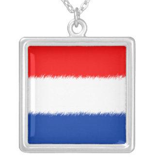 オランダの旗 シルバープレートネックレス