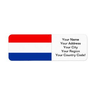 オランダの旗 ラベル