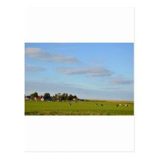 オランダの景色のパノラマ ポストカード