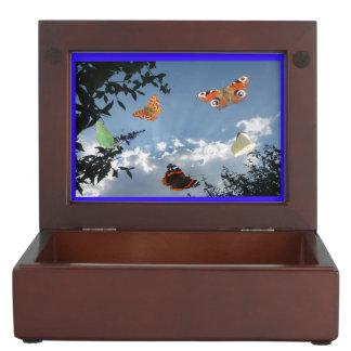 オランダの蝶記念品箱 ジュエリーボックス