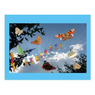 オランダの蝶Cust。 フレームの誕生日の郵便はがき はがき