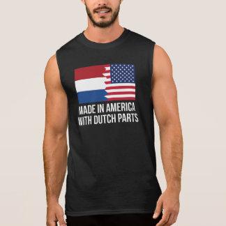 オランダの部品が付いているアメリカで作られる 袖なしシャツ