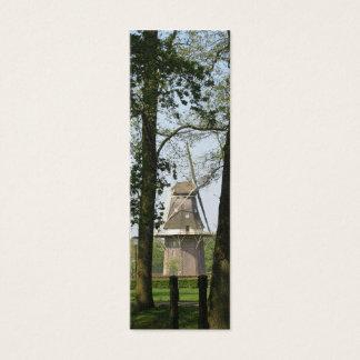 オランダの風車および木の写真のしおり スキニー名刺