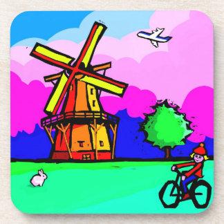 オランダの風車のコースター コースター