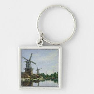 オランダの風車1884年 キーホルダー