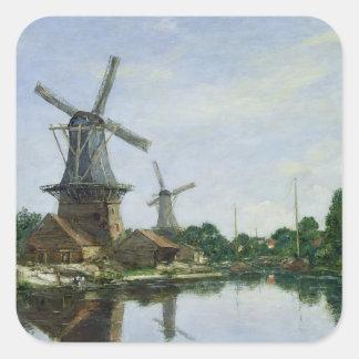 オランダの風車1884年 スクエアシール