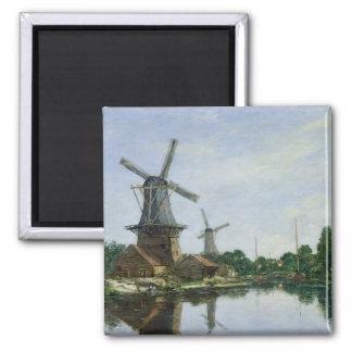 オランダの風車1884年 マグネット