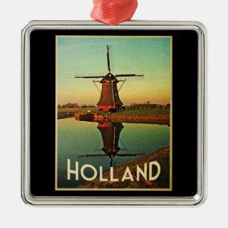オランダの風車 メタルオーナメント