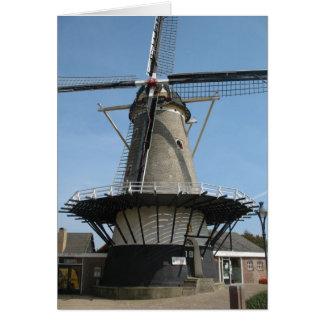 """オランダの風車""""De Pere""""のOost-Souburg写真カード グリーティングカード"""