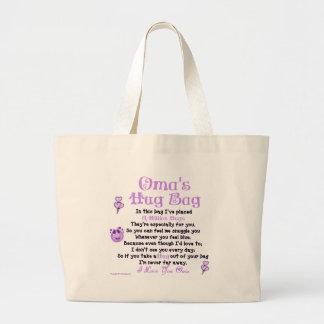 オランダのOmaの独身のな詩 ラージトートバッグ
